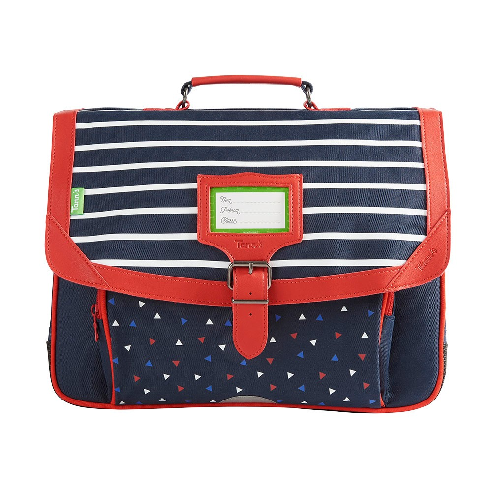 CARTABLE BRIEUC TRIANGLES 38CM BLEU TANN'S